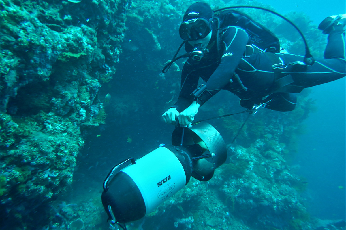 See More Sea on a Diver Propulsion Vehicle