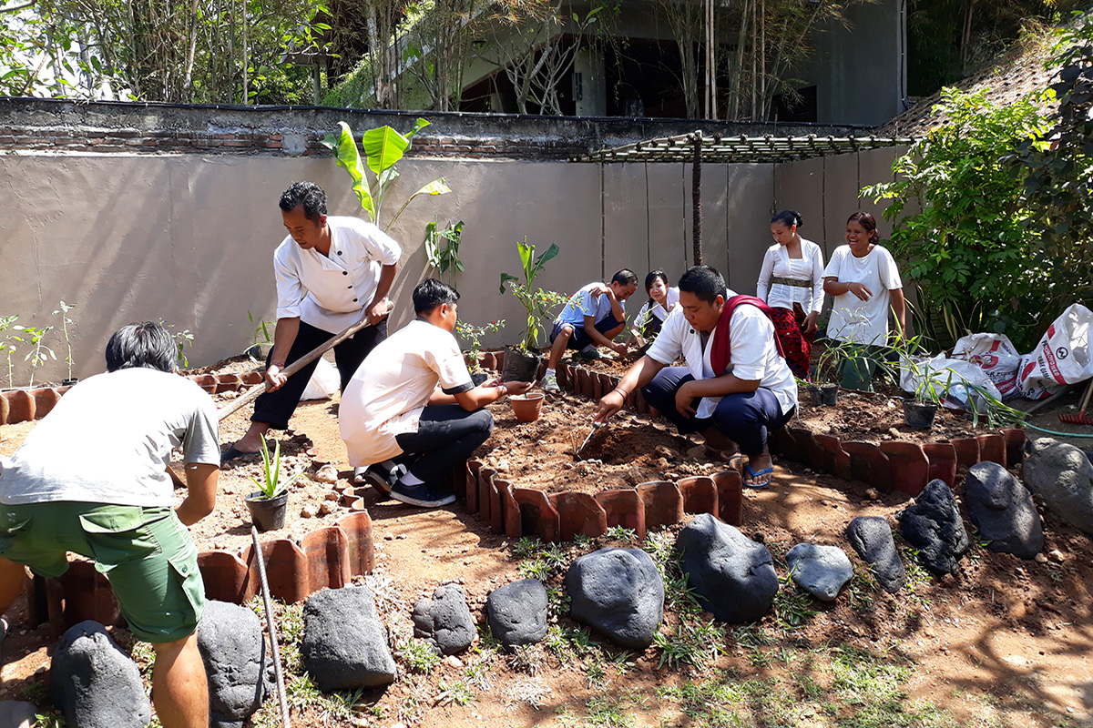 Gardening for Sustainability at Lotus Bungalows